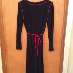 Black with Red Cord Trim Dress
